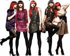 10 Pairs Ladies Black Cotton Opaque Micro-Fibre Tights Size 1 (10 uk)
