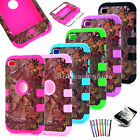 Camo Branch Tree Hybrid Rugged Hard Case Cover for iPod Touch 4 4th Gen + Pen