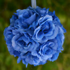 """8 pcs 7"""" KISSING BALLS with Silk Open Roses WEDDING FLOWERS Centerpieces SALE"""
