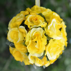 "8 pcs 7"" KISSING BALLS with Silk Open Roses WEDDING FLOWERS Centerpieces SALE"