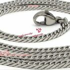 Boys Men's 316L Surgical Stainless Steel 4 Faceted Cut Cuban Curb Necklace Chain