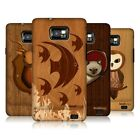 HEAD CASE DESIGNS WOOD CRAFT CASE COVER FOR SAMSUNG GALAXY S2 II I9100