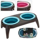 PET CAT DOG FOOD WATER BOWL FEEDER TABLE STAND FEEDING DISH MILK PUPPY 003737