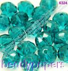 100 - 200 Glass Beads Abacus 6 mm Suncatcher Faceted Turquoise Teal Blue 6326