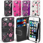 FLOWER BOOK WALLET CASE FLIP LEATHER CASE COVER POUCH FOR APPLE IPHONE 5 5G
