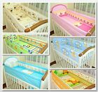 5 Piece Baby Bedding Set / Long All Round Padded Bumper 420/cotbed/ MANY DESIGN