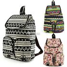 Women Girl Vintage Canvas Floral School Satchel Rucksack Backpack Campus Bag Owl