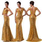 Shinning Sequin New Long Mermaid Formal Evening Party Gown Bridesmaid Prom Dress