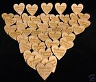 Personalised Wooden Hearts Table Decorations Favours Rustic Vintage Engraved