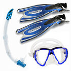CRESSI FROG PLUS BLUE+BIG EYES CLEAR/BLUE MASK+GAMMA BLUE SNORKEL   04US