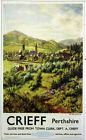 """CRIEFF, PERTHSHIRE"" Vintage  Railway/Travel Poster A1,A2,A3,A4 Sizes"