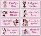 Minnie Mouse Personalised Kids' Bedroom Door Plaque / Sign *ANY NAME / MESSAGE*