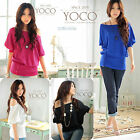 Sexy Fashion Womens Girls Loose Blouse Ladies Casual Short Sleeve Tops T-Shirt