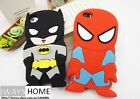 Superman Batman Phone Case Iphone5s/5G/4s/5G Itouch4/5 Silicone Movie Hero NEW