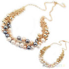 Good beautiful delicate Occident Style hyperbole Multilayer pearl necklace B57U