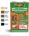 Rustins Advanced WOOD PRESERVER - Colour Or Clear - Protect  Exterior Timber 5L