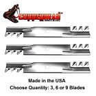 3 Mulching Gator Style Toothed Blade Replaces John Deere GX21784 GX21785 GY20852