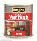 1L Rustins CLEAR POLYURETHANE VARNISH - for woodwork - Gloss - Satin or Matt 1L