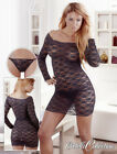 Long Sleeved Mini Dress black