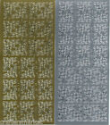 """Peel Offs """"CORNER"""" Gold or Silver X 2 Sheets (A)"""