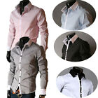 New Slim Casual Dress shirts Mens JS S-XL Fashion TOP  Luxury  Button-Front  PJ
