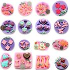 New Rose Flower Sweet Heart Frog Silicone Mould for Polymer Clay Candy Fondant image