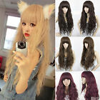 New Fashion Curly Wavy Weave Hair Full Long Wigs Women/Girl Cosplay Colorful Wig