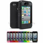 Shock Proof Cover Case w Built-in Screen Protector for iPhone 4 4S 5 5S or 5C