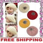 Winter Fashion Cute Baby Kids Girls Boys Toddler Knitted Crochet Beanie Hat Cap