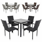 Modena Rattan Wicker Dining Table With 4 Chairs Garden Patio Conservatory Set