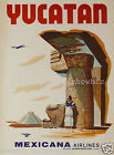 MEXICANA vintage airlines print poster, large 4 sizes available, Airline 139