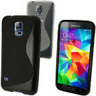 S-Line TPU Gel Skin Case Cover for Samsung Galaxy S5 SV SM-G900 + Screen Prot.