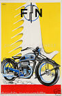 vintage motorcycle print poster, large 4 sizes available-Auto 8