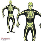 Halloween Fancy Dress # Adult Second Skin Glow in the Dark Skeleton Costume