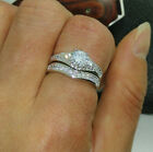 Size 6-10 jewelry 10kt white gold Filled white Topaz CZ Women Wedding Ring Set