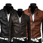 New Fashion Men Designed faux leather Short Slim Fit Top Jacket Coat Outerwear