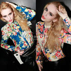 Womens Vintage Casual Chiffon Long Sleeve Flower Top Shirt Blouse Fashion