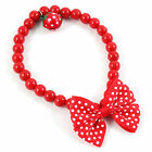 Pet Dog Cat Jewelry Beads Necklace Necklet Bell Bow bowknot Collar