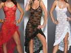 Lady Sexy Lace Babydoll See-through Lingerie Underwear Sleepwear Long Dress Gift