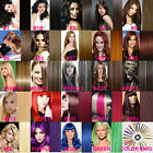 "Easy Clips In 100% Real Remy Human Hair Extensions DIY Full Head 15""-22"" 70-100G"