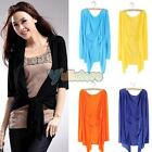 Womens Beach Sun Protection Long Sleeve Cardigan Top Air-conditioned Shirt Shawl