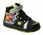 NEW BOYS MOSHI MONSTERS BLACK HI TOP TRAINERS VELCRO SHOES BOOTS UK 10-2