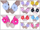 Baby Barefoot Sandals Daisy Flower Shoes Lace Elastic Band Newborn Photo Prop