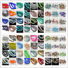 Free Ship 50Pcs 8x6mm Rondelle Faceted Glass Loose Spacer Beads Finding 135Color