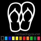 Flip Flops Sticker Vinyl Decal - Beach Sandals Tropical Summer Shoes Car Window