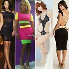 Womens Sexy Bandage Dress Slim Clubwear Bodycon Dress Celebrity party Dress N98B