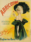 Abricotine vintage French print poster, large 4 sizes available, France 55