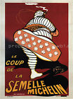 Michelin Vintage French ad print poster, large 4 sizes available-France 235