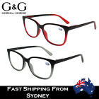 G&G Mens Full Rim Reading Glasses Spring Loaded Retangcle Shape 1.0~4.0