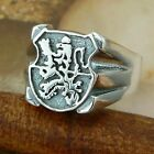 STERLING SILVER LION SIGNET RING SOLID.925 /NEW JEWELLERY  SIZE J - U